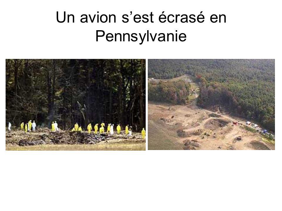 Un avion sest écrasé en Pennsylvanie