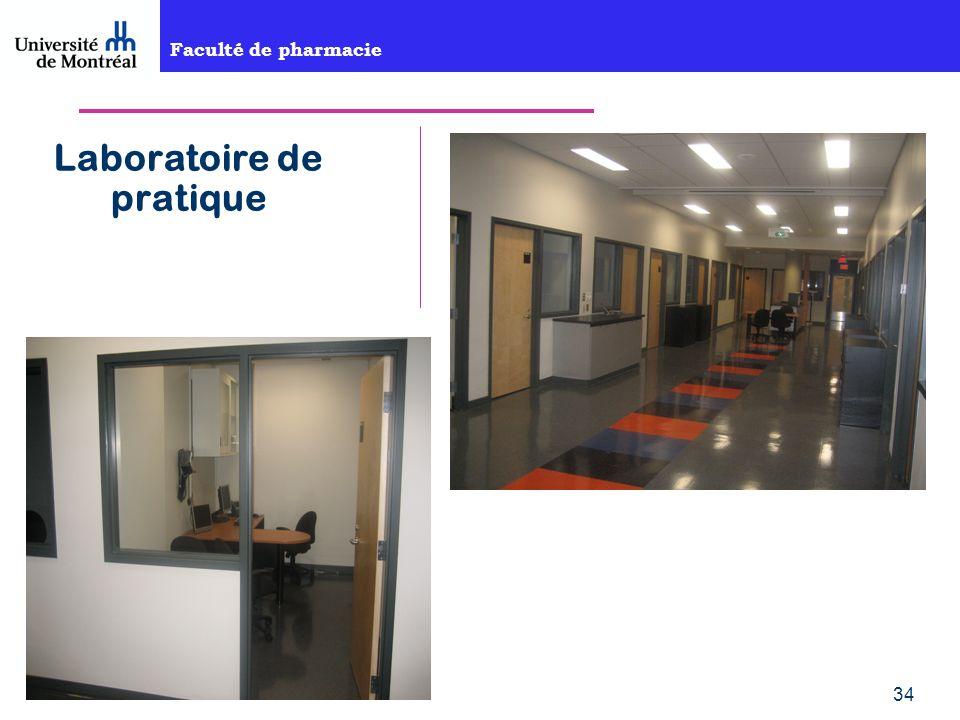 Faculté de pharmacie 34 Laboratoire de pratique