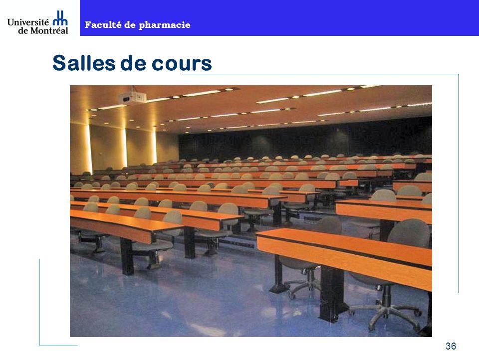 Faculté de pharmacie 36 Salles de cours