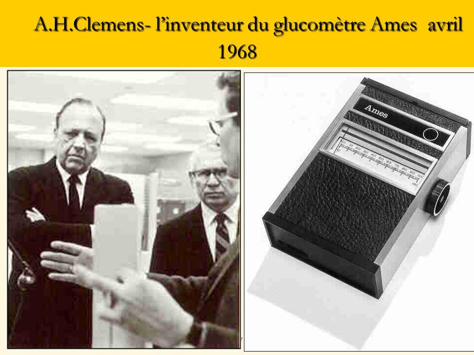 A.H.Clemens- linventeur du glucomètre Ames avril 1968 A.H.Clemens- linventeur du glucomètre Ames avril 1968