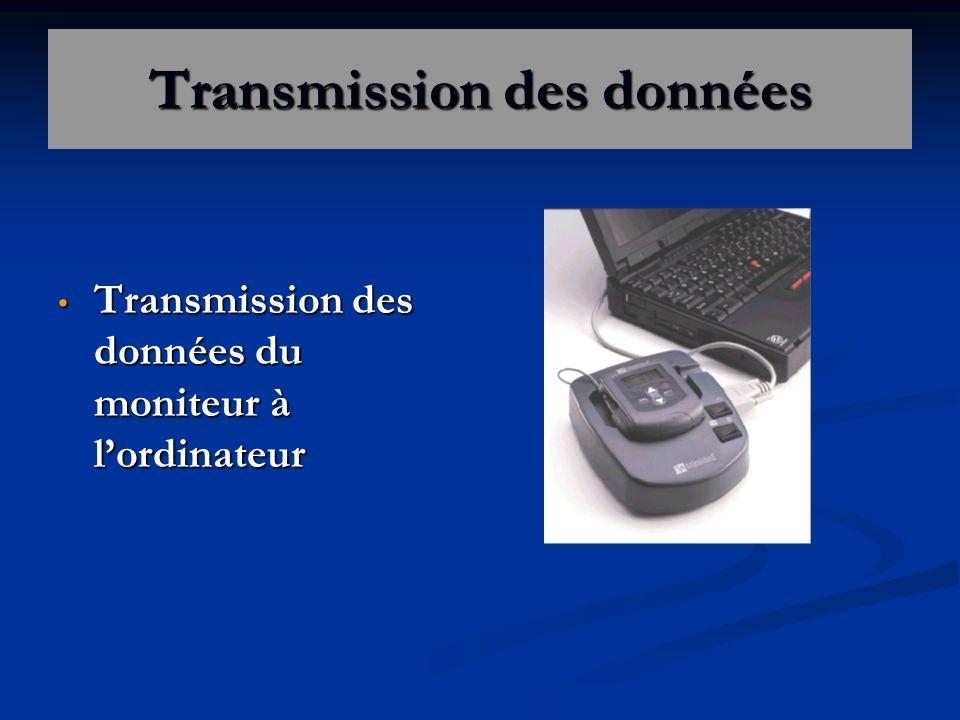 Transmission des données Transmission des données du moniteur à lordinateur Transmission des données du moniteur à lordinateur