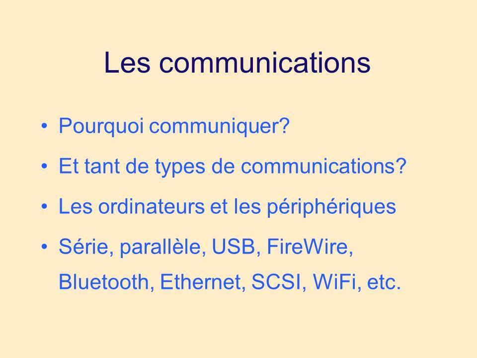 Les communications Pourquoi communiquer. Et tant de types de communications.