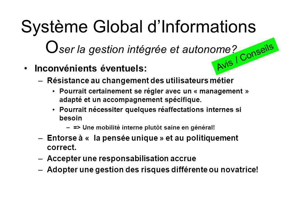 Système Global dInformations O ser la gestion intégrée et autonome.