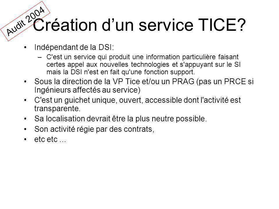 Création dun service TICE.