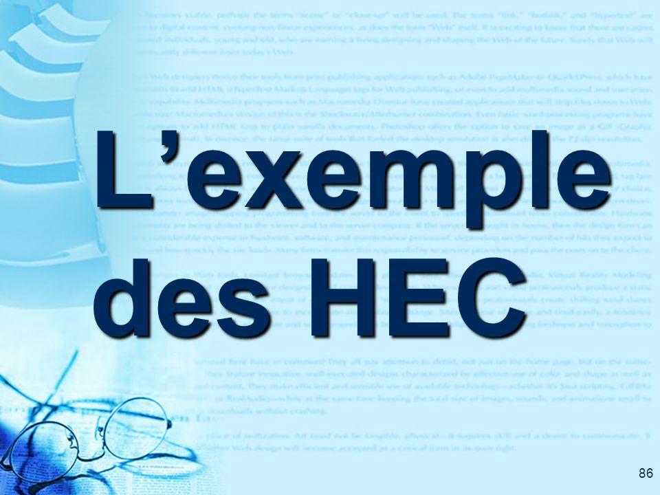 86 Lexemple des HEC