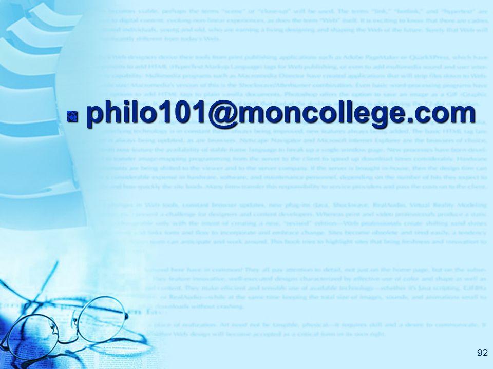 92 philo101@moncollege.com