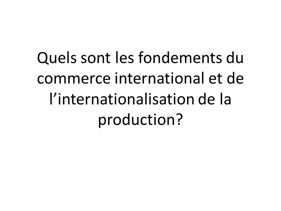 La DIT est donc à l origine du commerce international et ce dernier favorise la croissance et le développement.