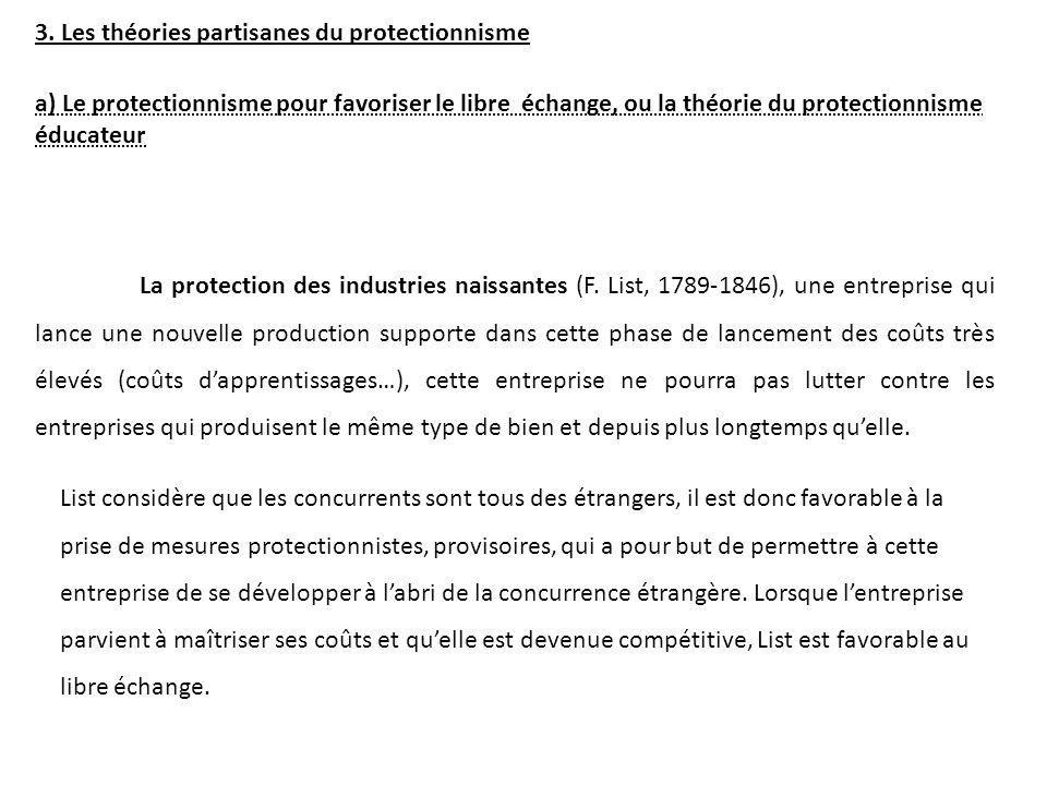 La protection des industries naissantes (F.