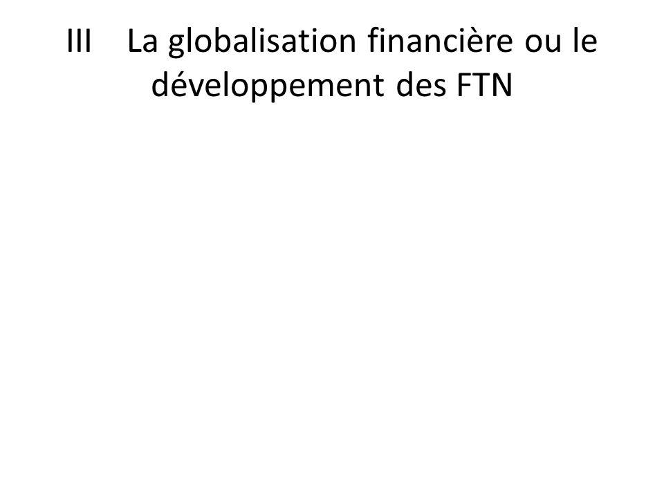 III La globalisation financière ou le développement des FTN