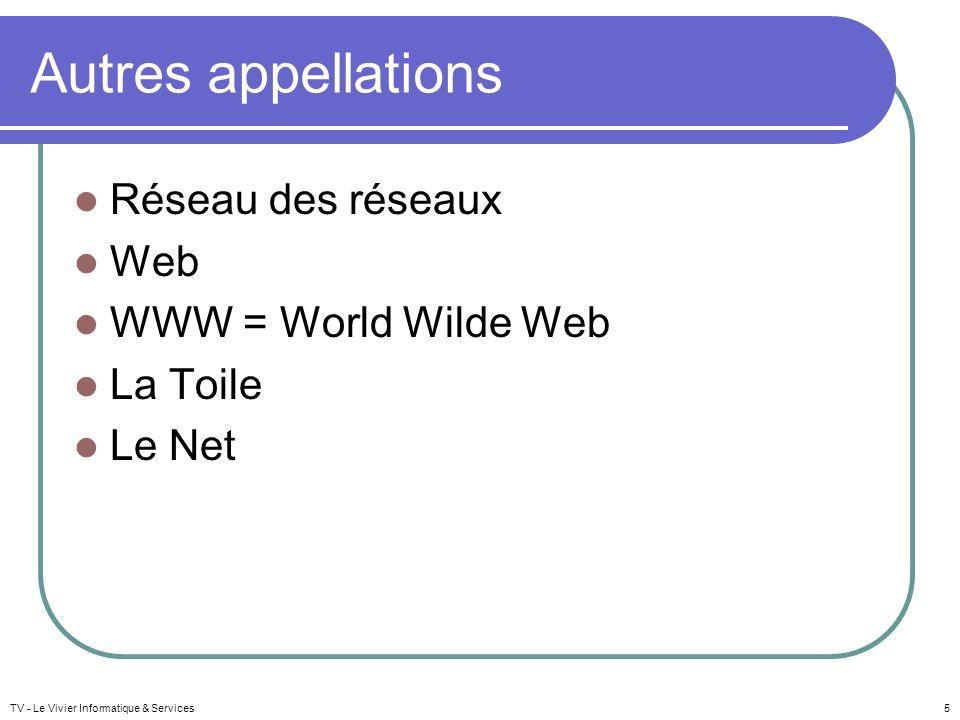 Objectifs Libre service dinformation en tout genre Dispositif déchange mondial « universel », « libre » et « instantané » TV - Le Vivier Informatique & Services6