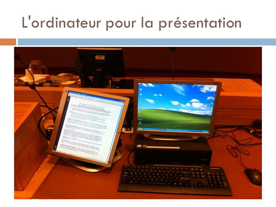 L ordinateur pour la présentation