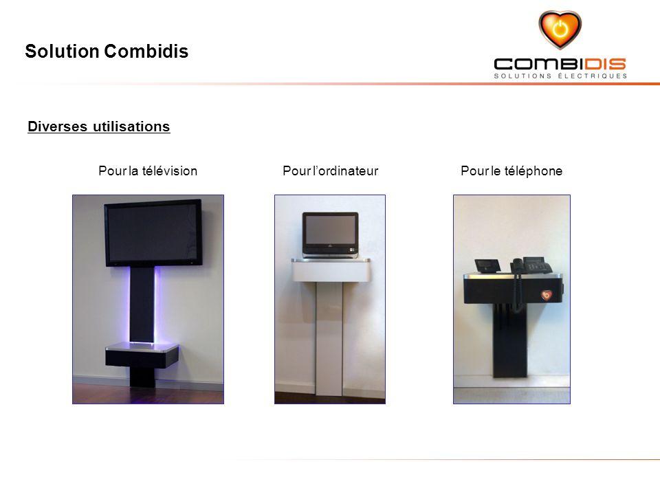 Solution Combidis Diverses utilisations Pour la télévisionPour lordinateurPour le téléphone
