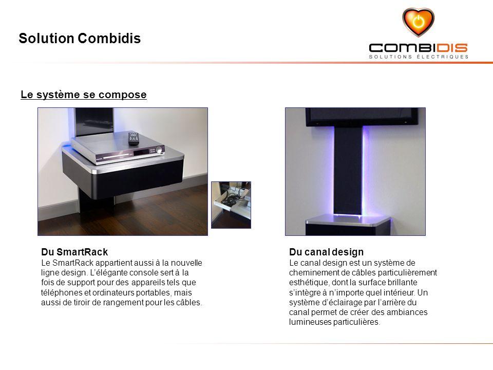 Solution Combidis Le système se compose Du SmartRack Le SmartRack appartient aussi à la nouvelle ligne design.