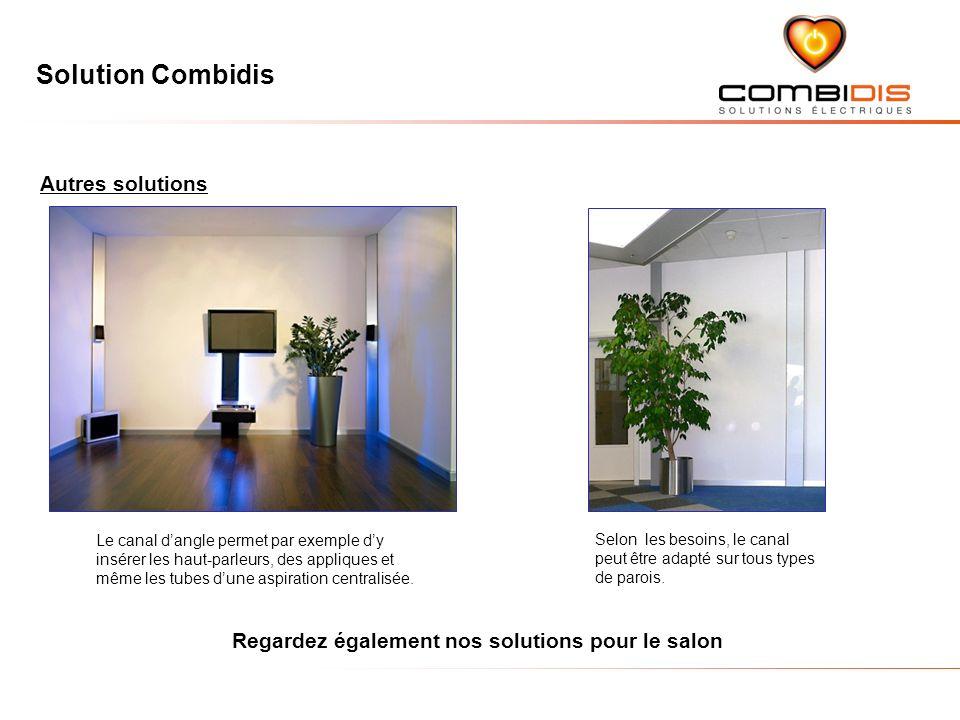 Solution Combidis Autres solutions Le canal dangle permet par exemple dy insérer les haut-parleurs, des appliques et même les tubes dune aspiration centralisée.