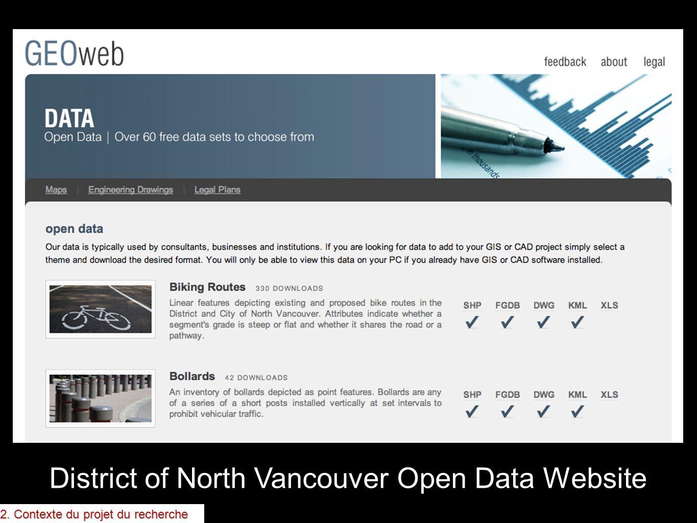 District of North Vancouver Open Data Website 2. Contexte du projet du recherche