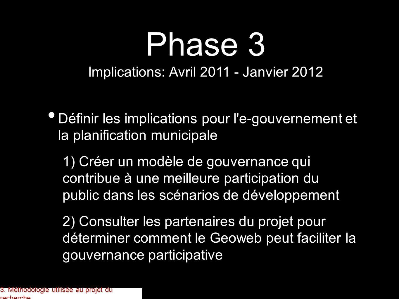 Définir les implications pour l'e-gouvernement et la planification municipale 1) Créer un modèle de gouvernance qui contribue à une meilleure particip