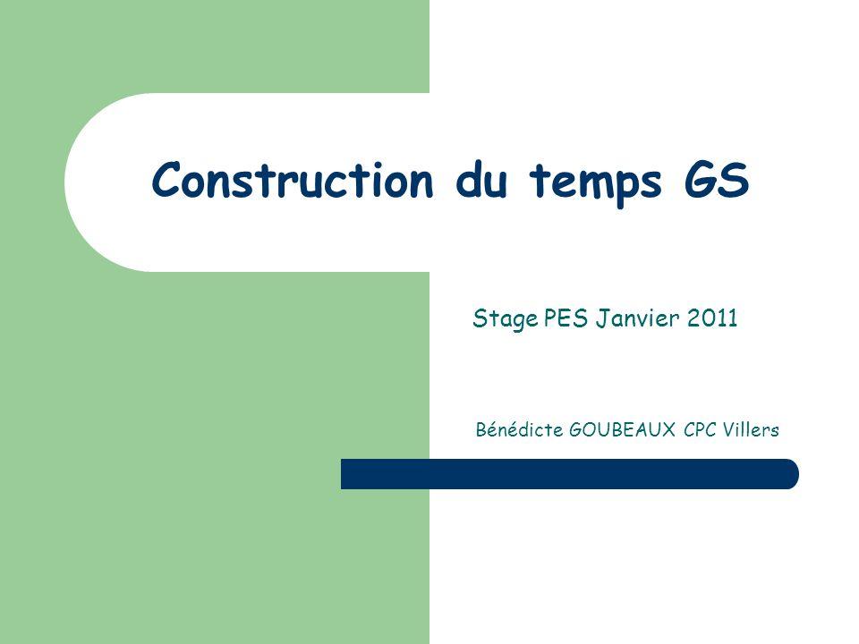 Construction du temps GS Bénédicte GOUBEAUX CPC Villers Stage PES Janvier 2011