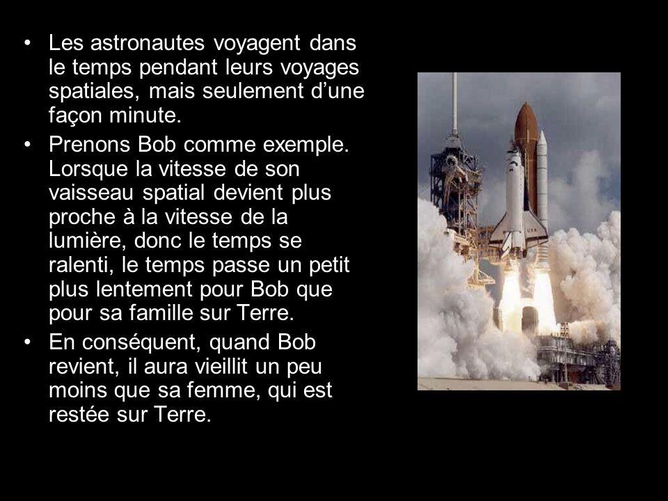Les astronautes voyagent dans le temps pendant leurs voyages spatiales, mais seulement dune façon minute.