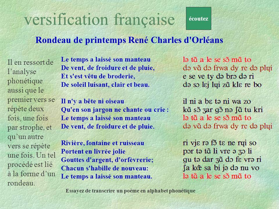Rondeau de printemps René Charles d'Orléans Demain, dès laube, à lheure où blanchit la campagne, Je partirai. Vois-tu je sais que tu mattends, Le plus