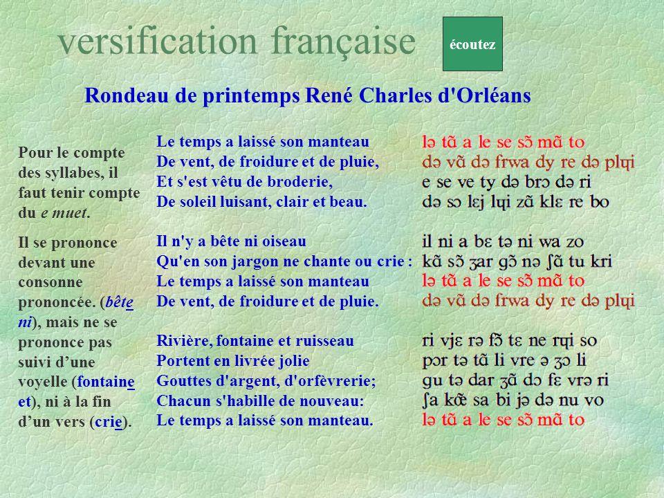Rondeau de printemps René Charles d Orléans Demain, dès laube, à lheure où blanchit la campagne, Je partirai.