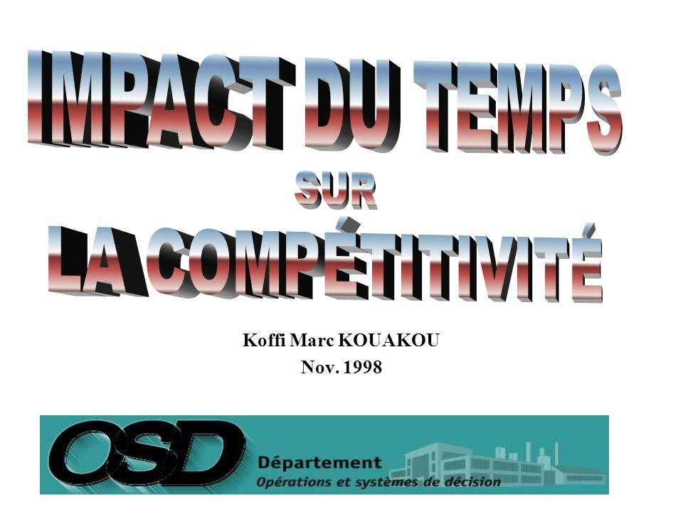2 Situation du sujet Problématique Étude dun exemple comparatif Les effets du temps sur la compétitivité Comment devenir un compétiteur par le temps Conclusion Discussion