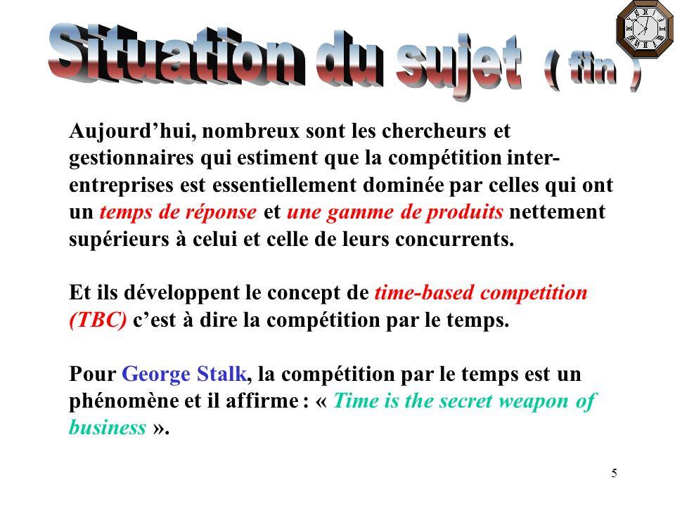 6 L affirmation de Stalk ne peut que susciter des interrogations : Quel est l impact réel du temps sur la compétitivité .