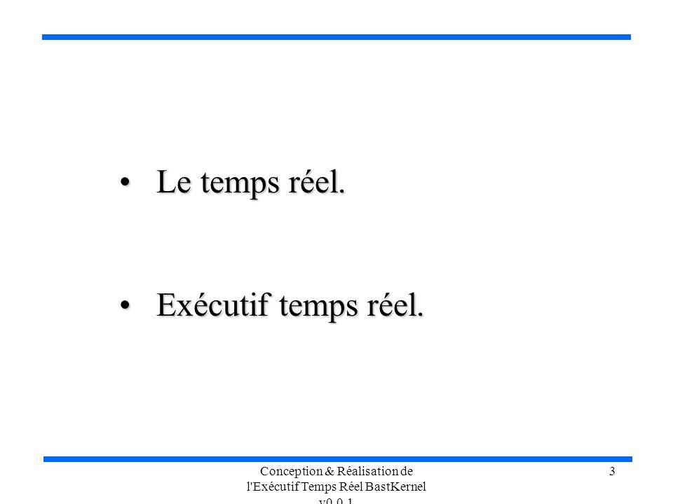 Conception & Réalisation de l'Exécutif Temps Réel BastKernel v0.0.1 3 Le temps réel. Le temps réel. Exécutif temps réel. Exécutif temps réel.
