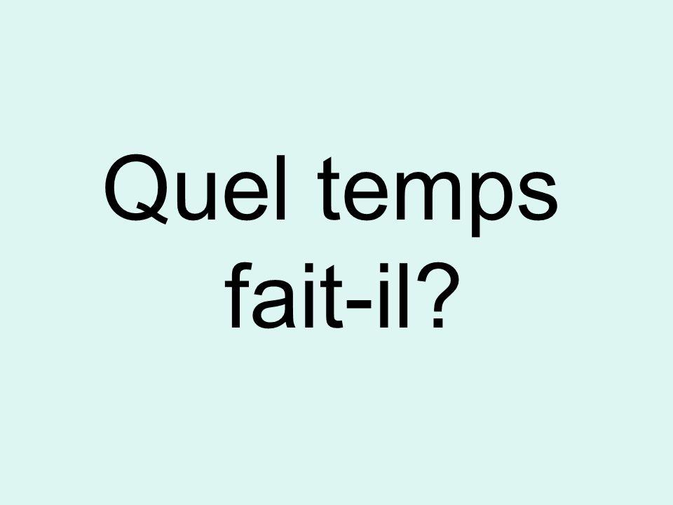 1- Quel temps fait-il?