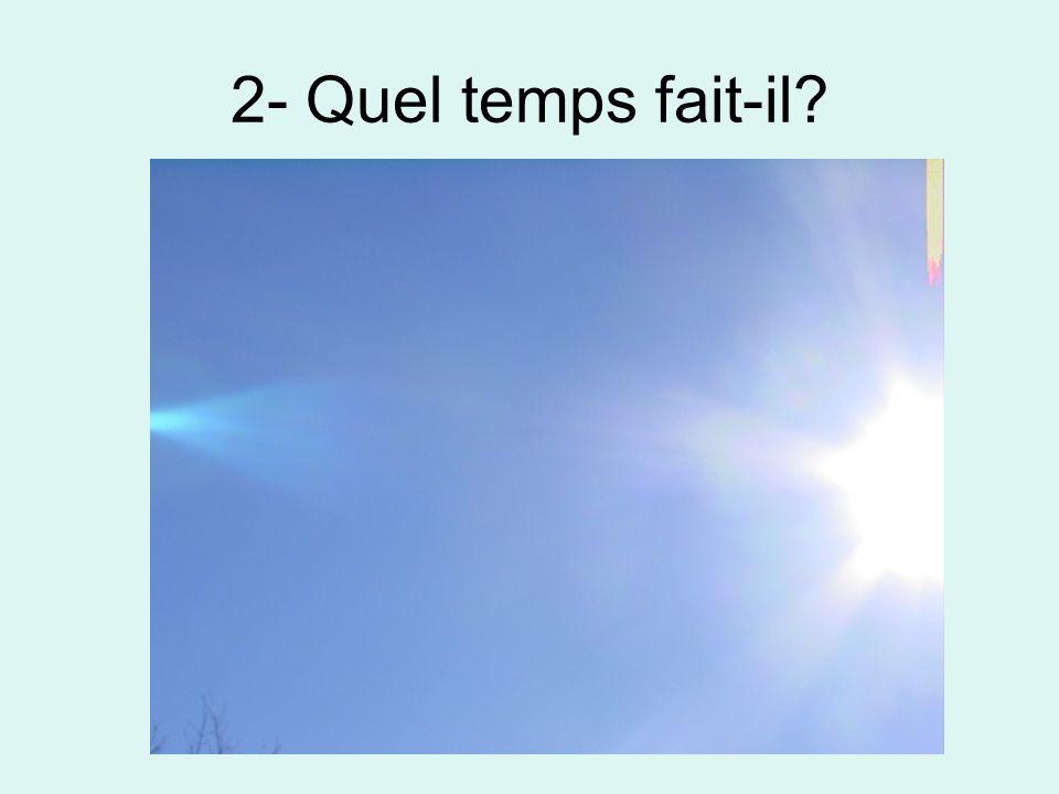 3- Quel temps fait-il?