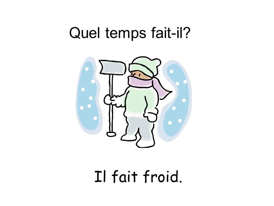 Quel temps fait-il? Il fait froid.