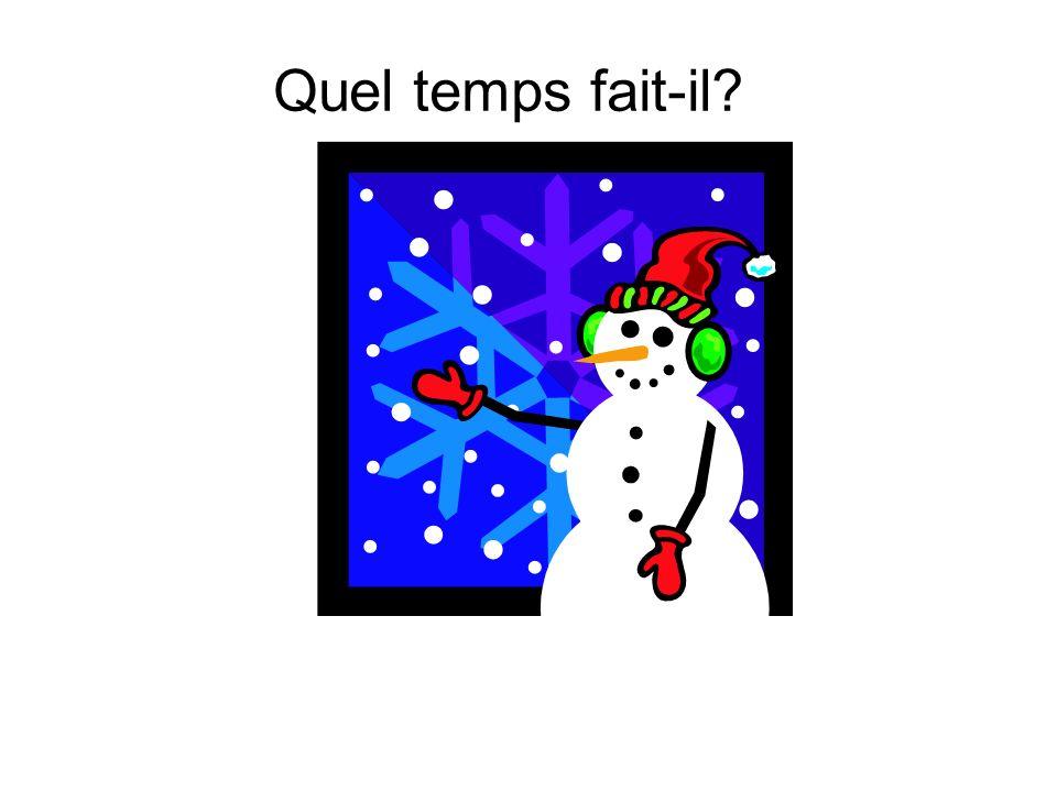 Quel temps fait-il?
