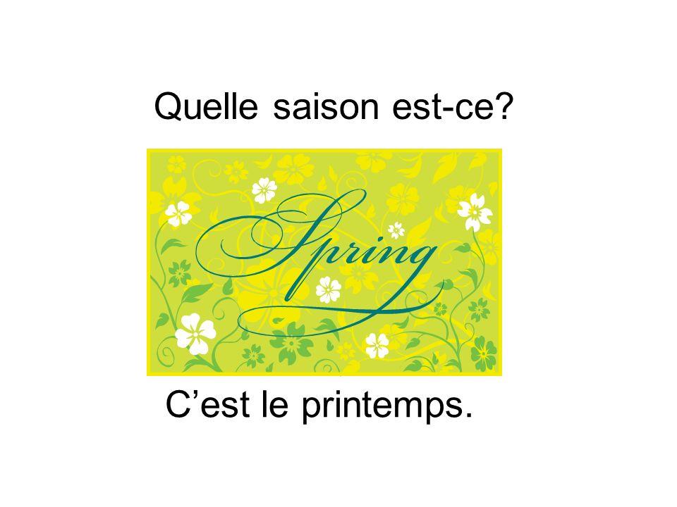 Cest le printemps.