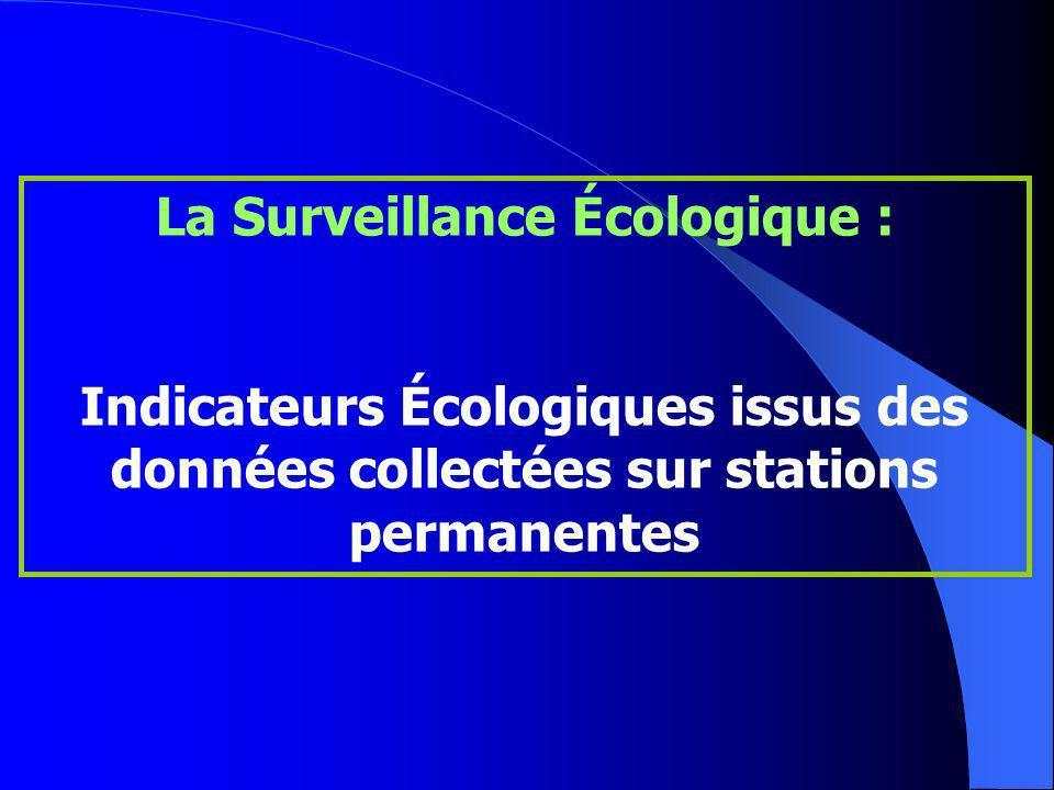 La Surveillance Écologique : Indicateurs Écologiques issus des données collectées sur stations permanentes