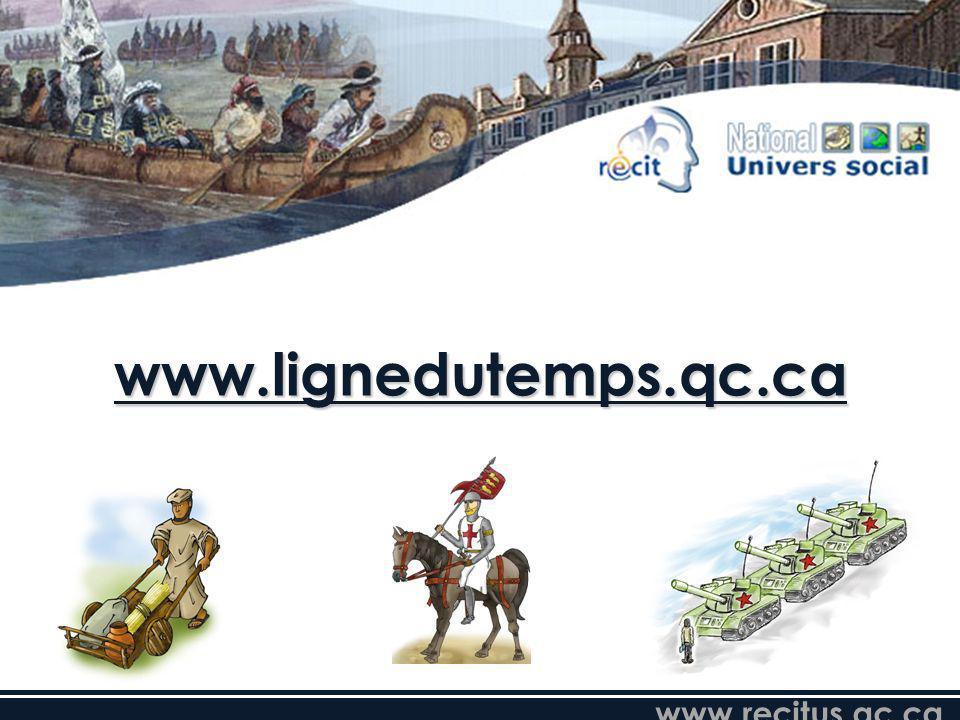 www.recitus.qc.ca www.lignedutemps.qc.ca