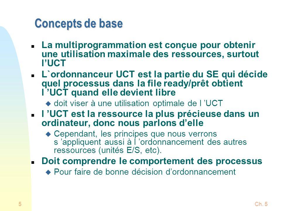 Ch.536 Files multiples et à retour n Un processus peut passer d une file à l autre, p.ex.