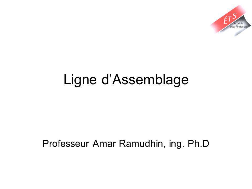 Ligne dAssemblage Professeur Amar Ramudhin, ing. Ph.D