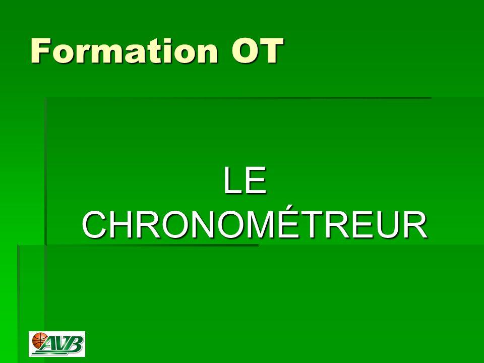 Formation OT LE CHRONOMÉTREUR