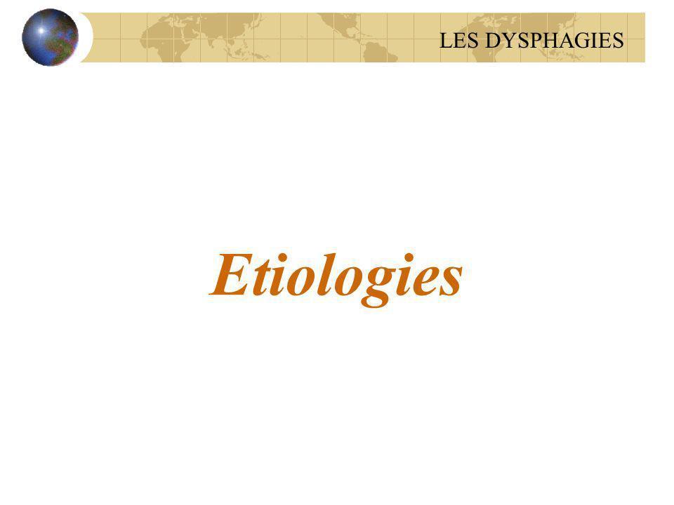 Etiologies LES DYSPHAGIES