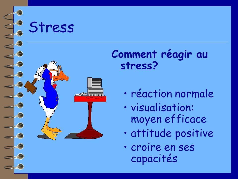 Stress Comment réagir au stress.