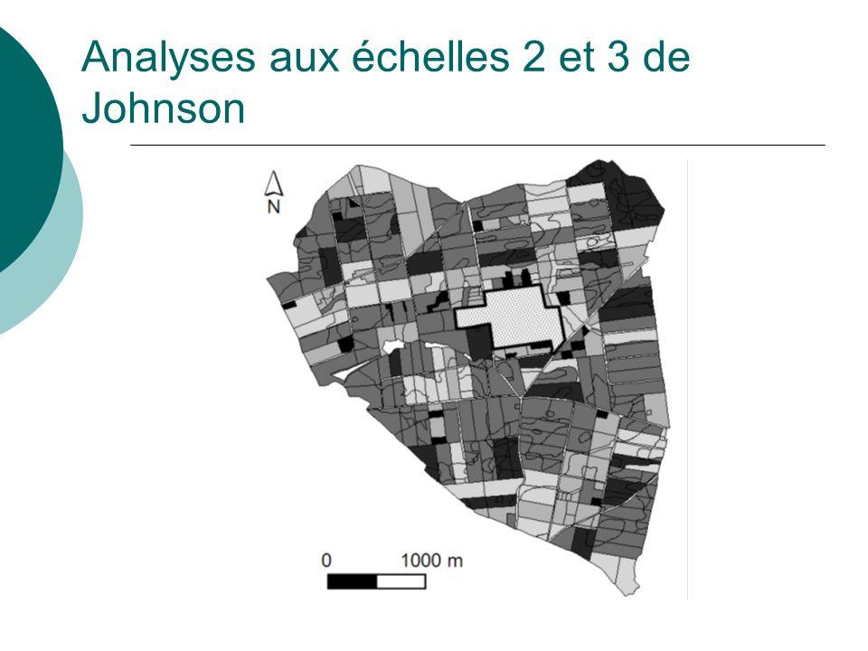 Analyses aux échelles 2 et 3 de Johnson