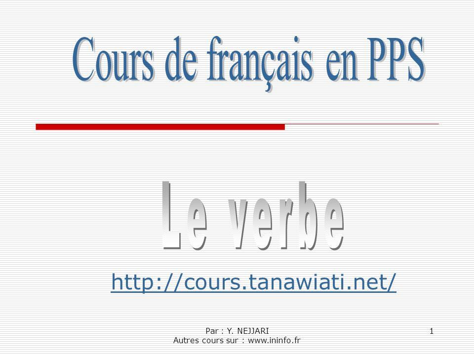 Par : Y. NEJJARI Autres cours sur : www.ininfo.fr 1 http://cours.tanawiati.net/