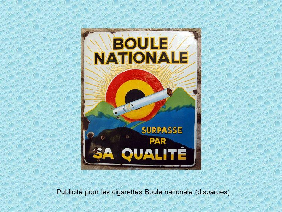 Publicité pour les cigarettes Boule nationale (disparues)