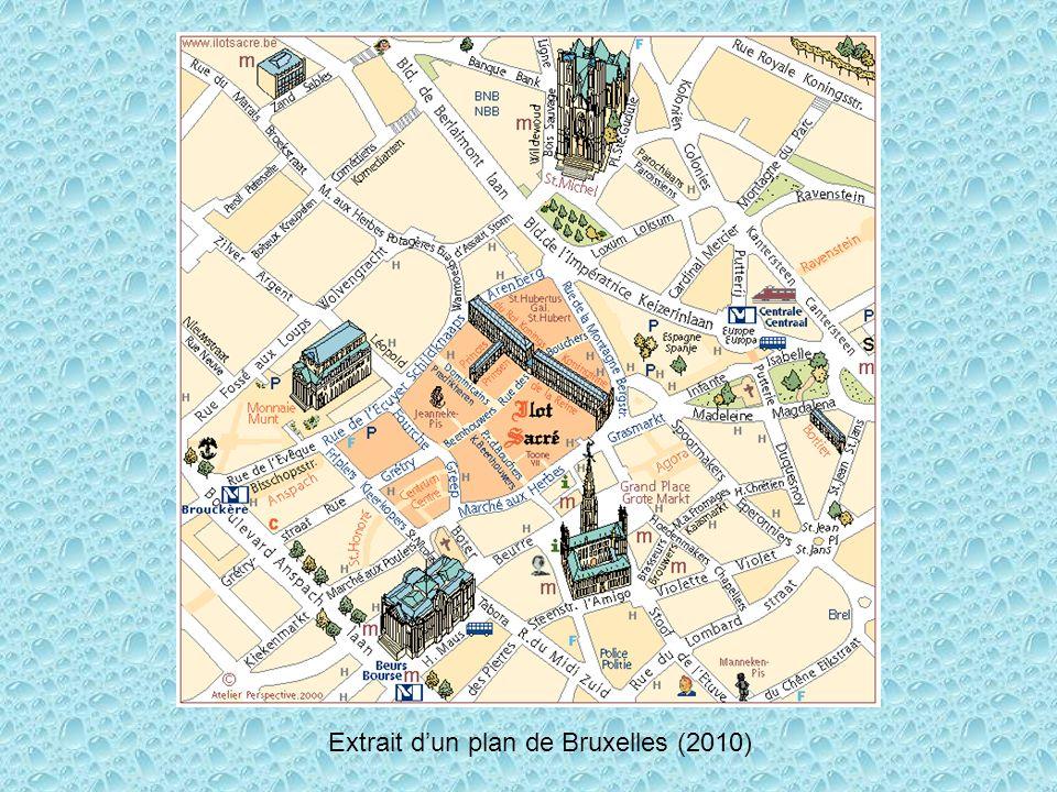 Extrait dun plan de Bruxelles (2010)