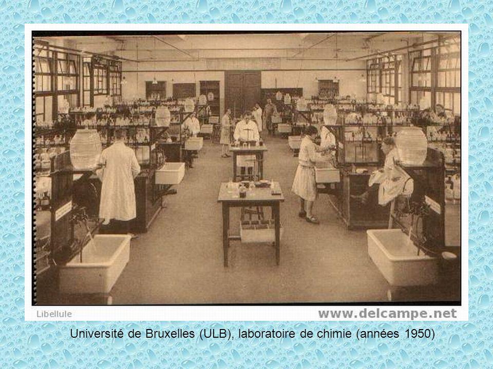 Université de Bruxelles (ULB), laboratoire de chimie (années 1950)