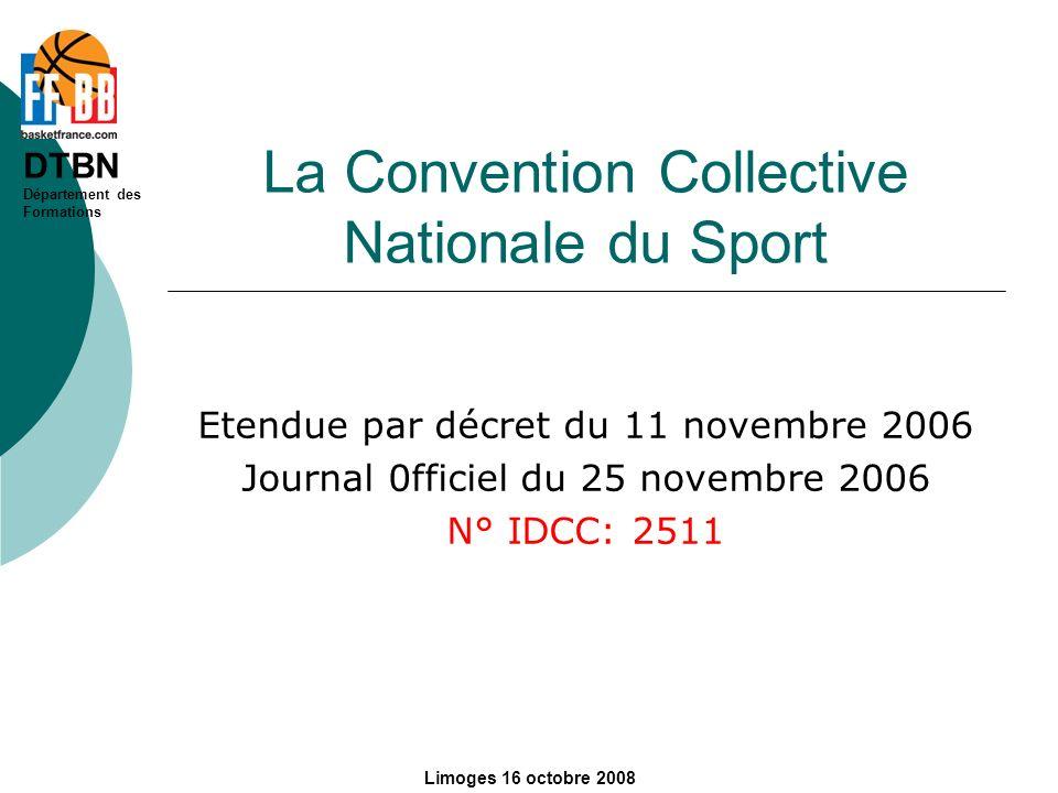 DTBN Département des Formations Limoges 16 octobre 2008 Chapitre 9 Classification et Rémunération