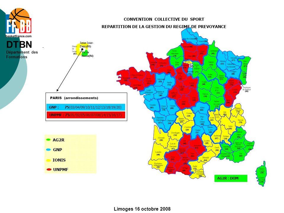 DTBN Département des Formations Limoges 16 octobre 2008
