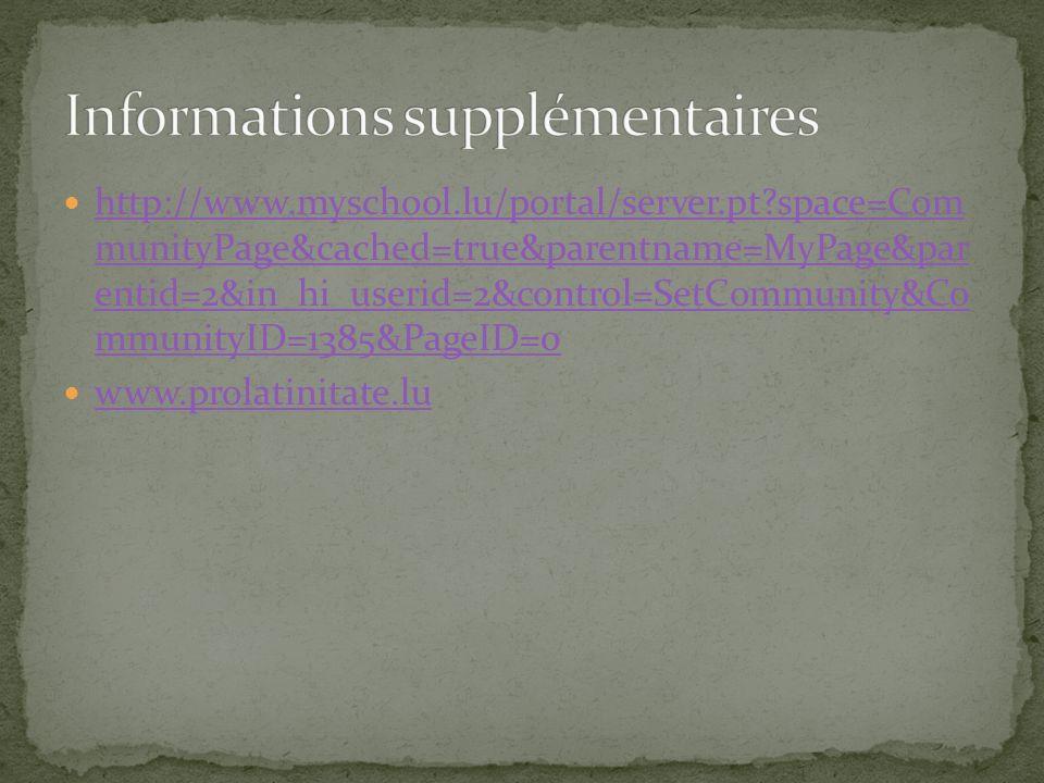 http://www.myschool.lu/portal/server.pt?space=Com munityPage&cached=true&parentname=MyPage&par entid=2&in_hi_userid=2&control=SetCommunity&Co mmunityI