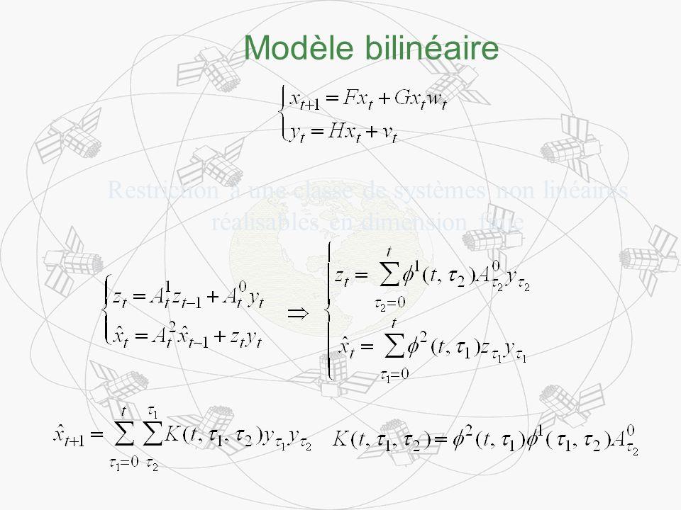 Modèle bilinéaire Restriction à une classe de systèmes non linéaires réalisables en dimension finie