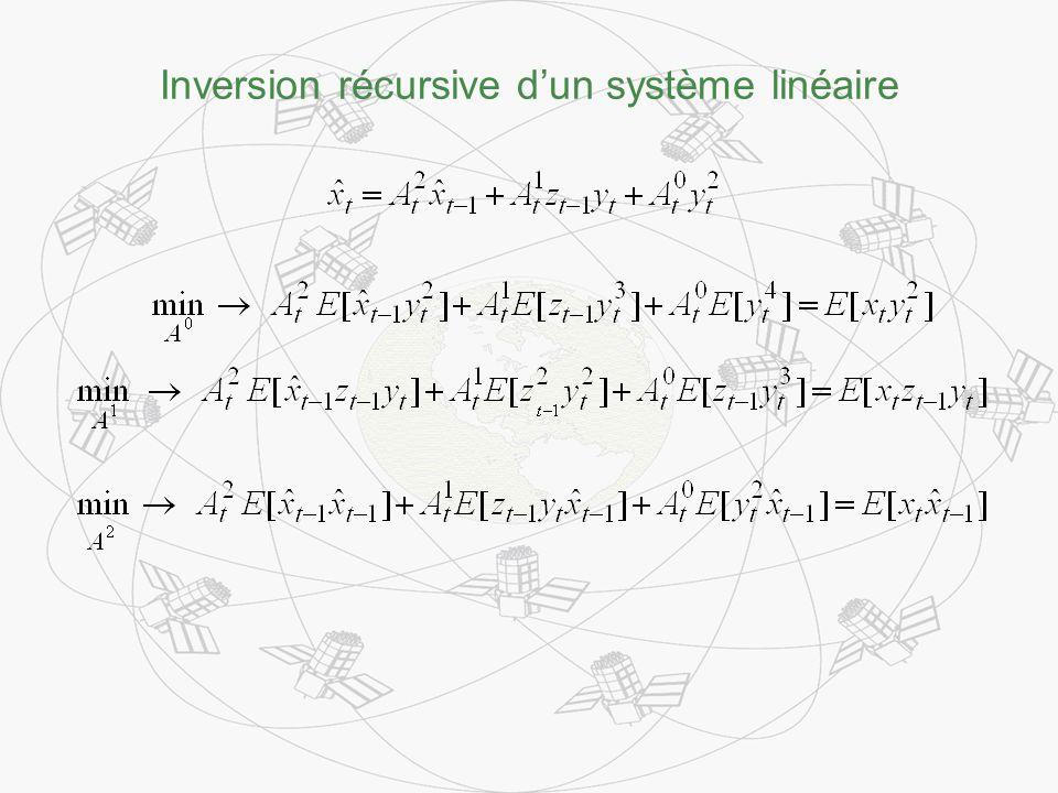 Inversion récursive dun système linéaire