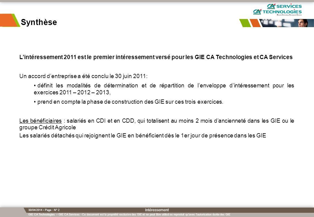 GIE CA Technologies – GIE CA Services - Ce document est la propriété exclusive des GIE et ne peut être utilisé ou reproduit qu'avec l'autorisation écr